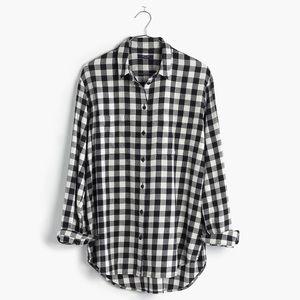 Madewell Buffalo Check Flannel Oversized Boyshirt